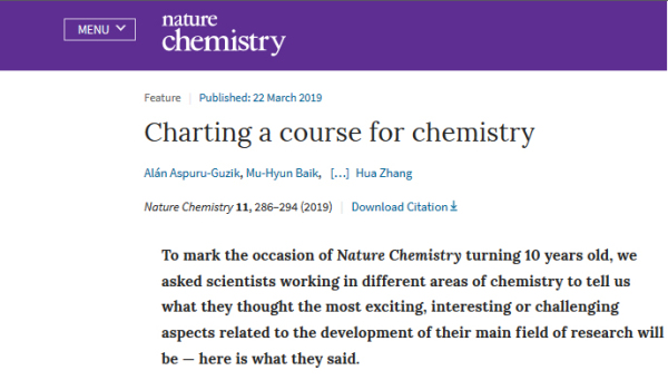 Mar 2019 - featured on Nature Chemistry